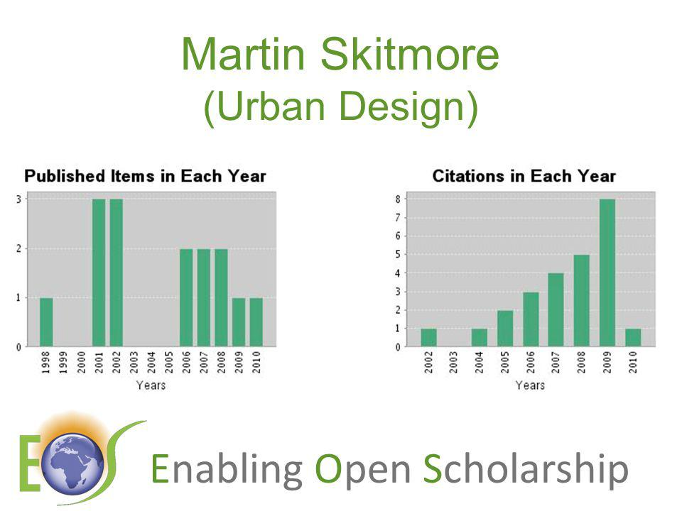 Enabling Open Scholarship Martin Skitmore (Urban Design)
