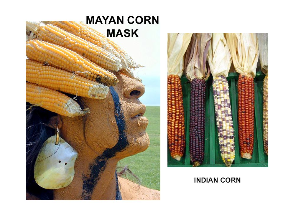MAYAN CORN MASK INDIAN CORN