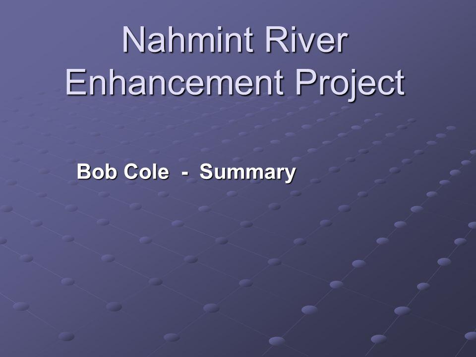 Nahmint River Enhancement Project Bob Cole - Summary
