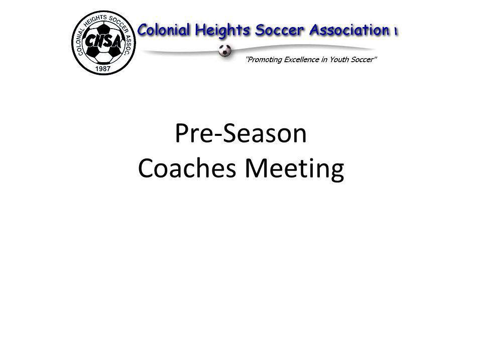 Pre-Season Coaches Meeting