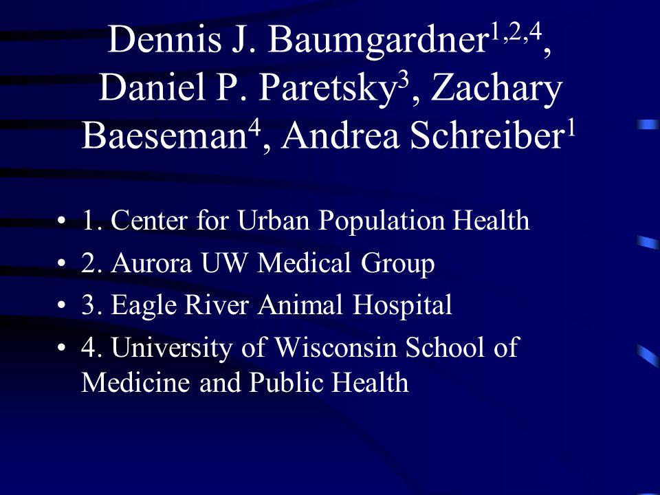 Dennis J.Baumgardner 1,2,4, Daniel P. Paretsky 3, Zachary Baeseman 4, Andrea Schreiber 1 1.