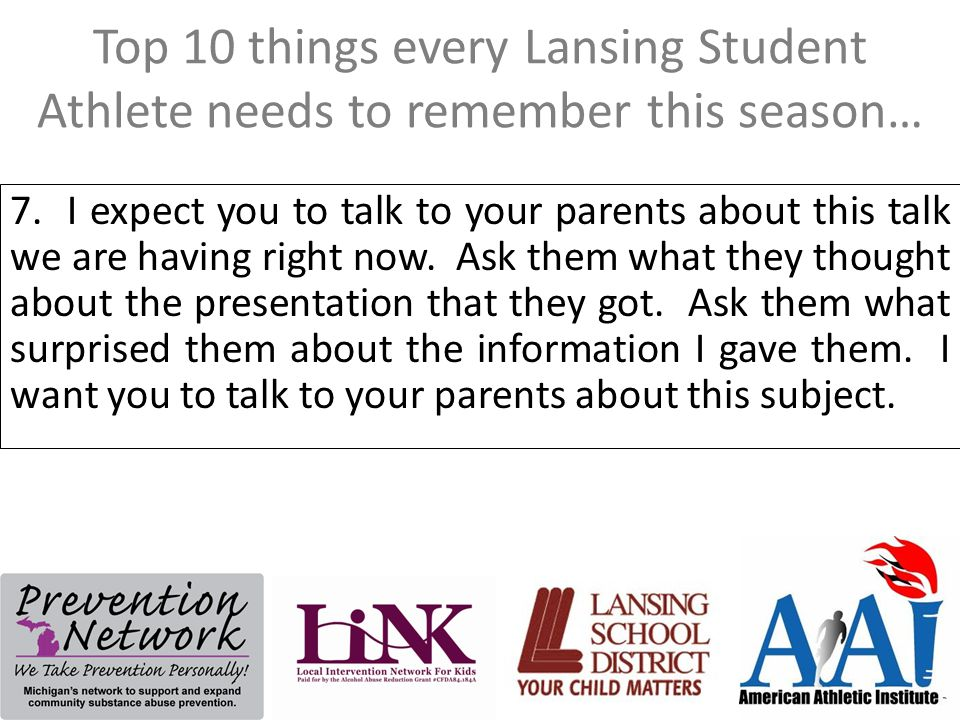 Top 10 things every Lansing Student Athlete needs to remember this season… 7.
