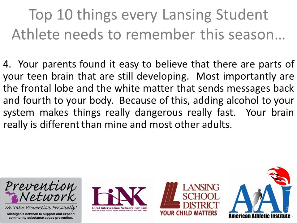 Top 10 things every Lansing Student Athlete needs to remember this season… 3.