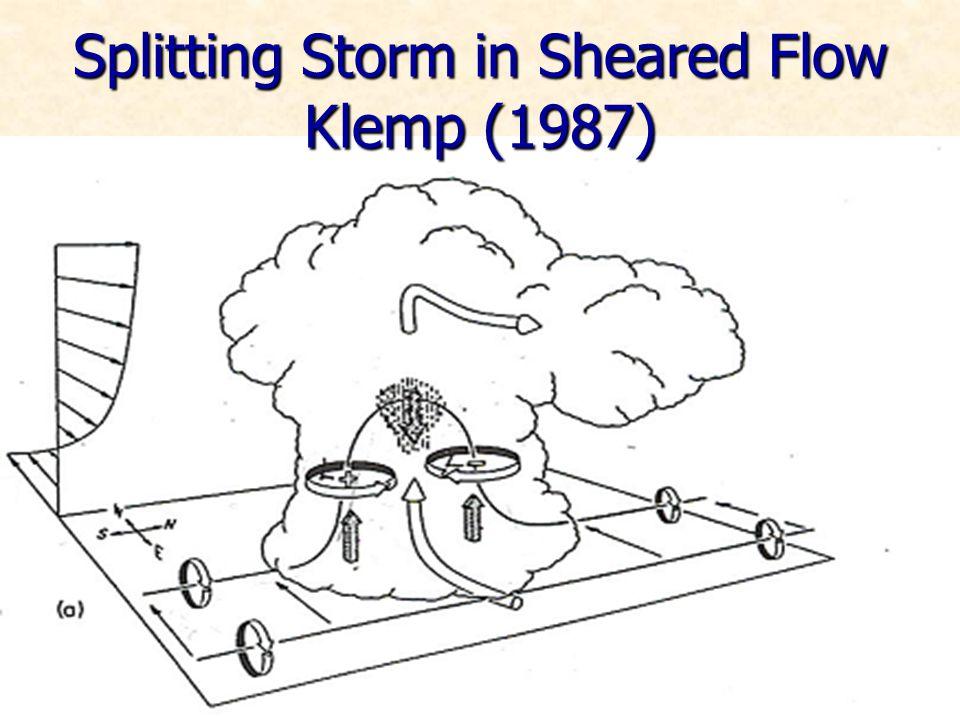 Splitting Storm in Sheared Flow Klemp (1987)