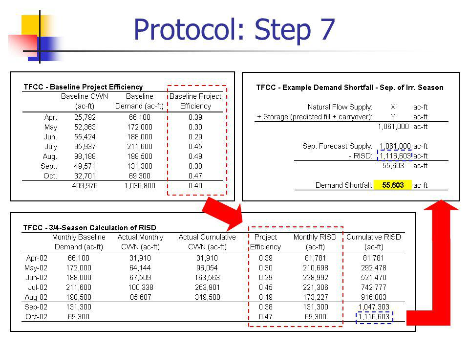 Protocol: Step 7