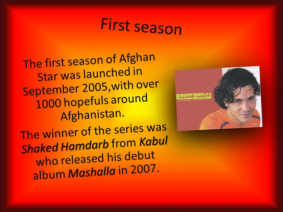 Logo of Afghan Star Rafi Naabzada(Winner of the 3rd season. He´s become the most successful singer)