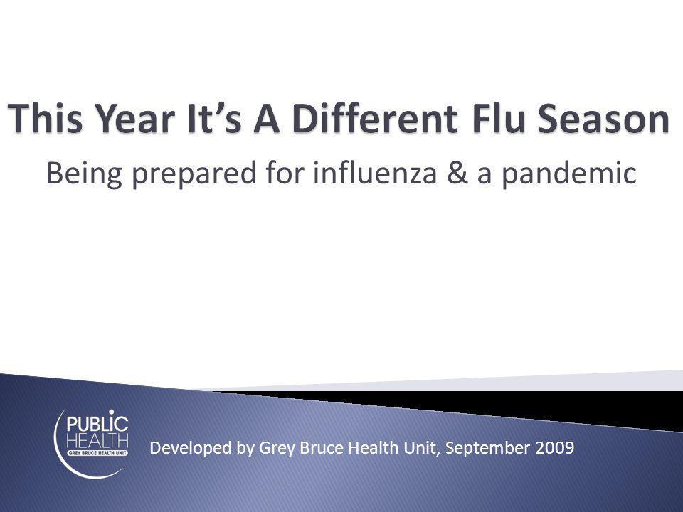 2 types of flu viruses circulating Seasonal flu virus Pandemic virus 2 flu vaccines developed