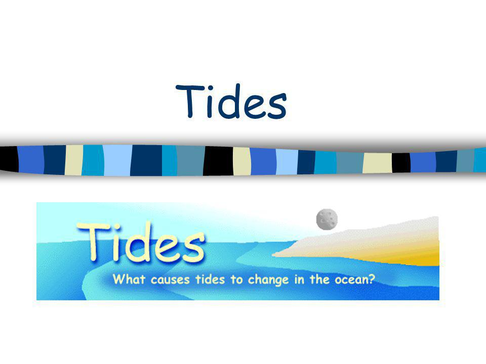 TIDES What are tides.