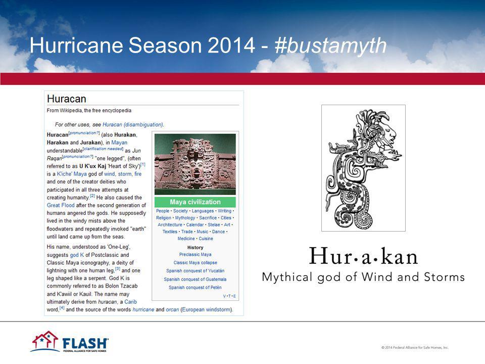 Hurricane Season 2014 - #bustamyth