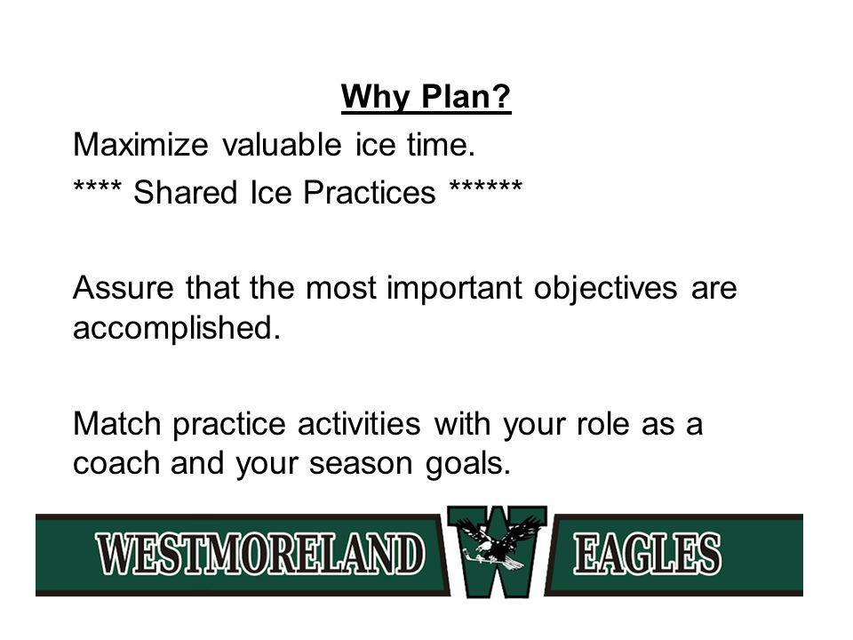 Why Plan. Maximize valuable ice time.