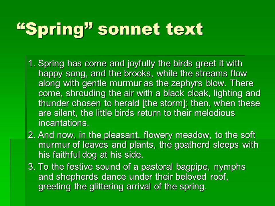 Spring sonnet text 1.