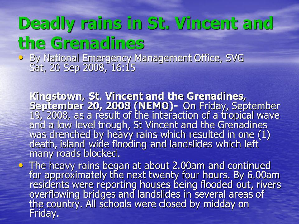 Deadly rains in St.