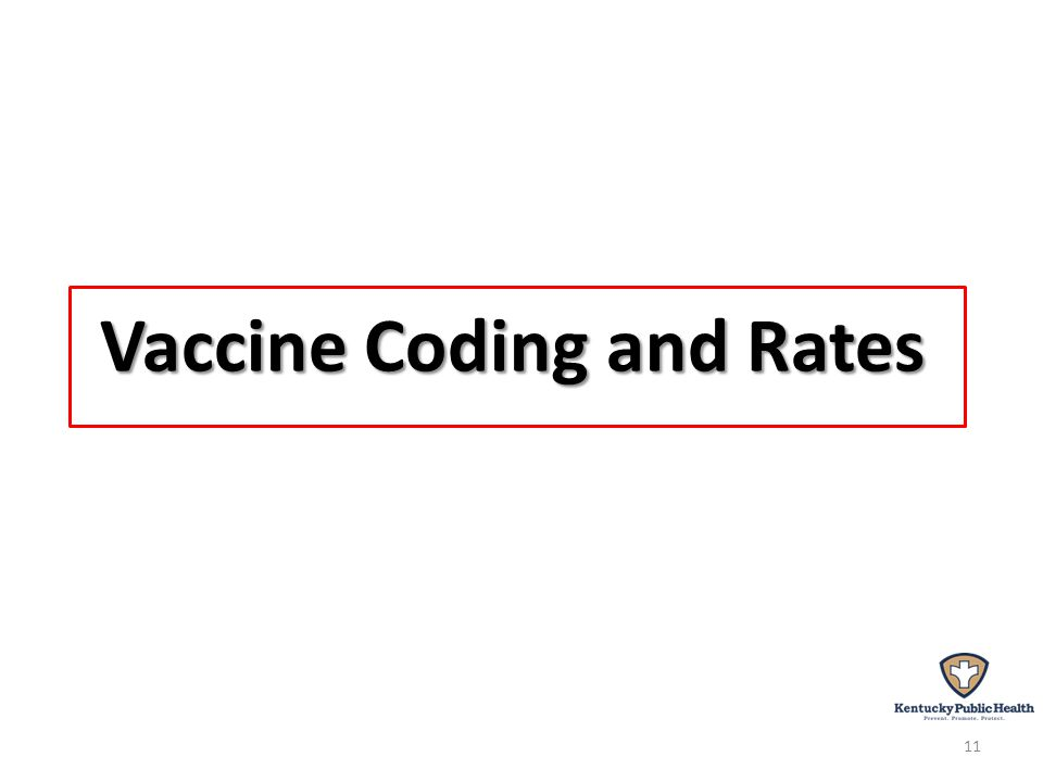 Vaccine Coding and Rates 11