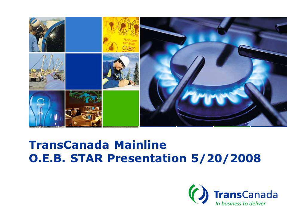 TransCanada Mainline O.E.B. STAR Presentation 5/20/2008