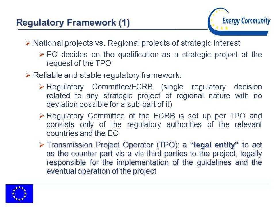 3 Regulatory Framework (1) National projects vs.