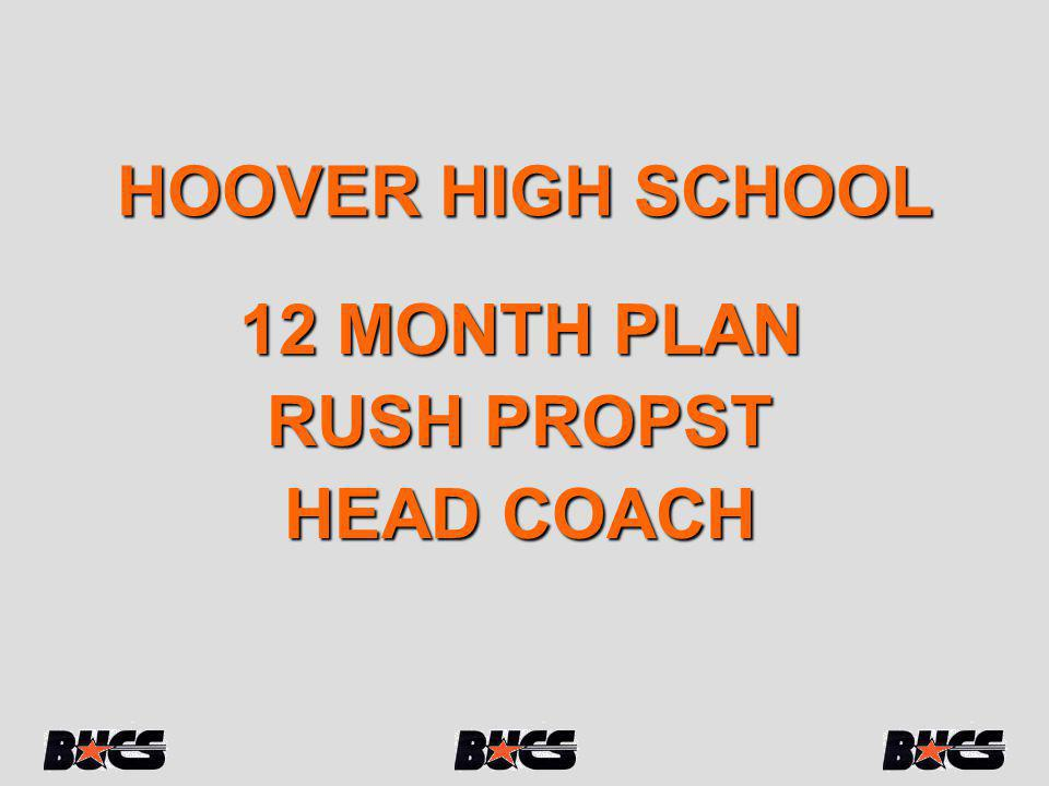 HOOVER HIGH SCHOOL 12 MONTH PLAN RUSH PROPST HEAD COACH
