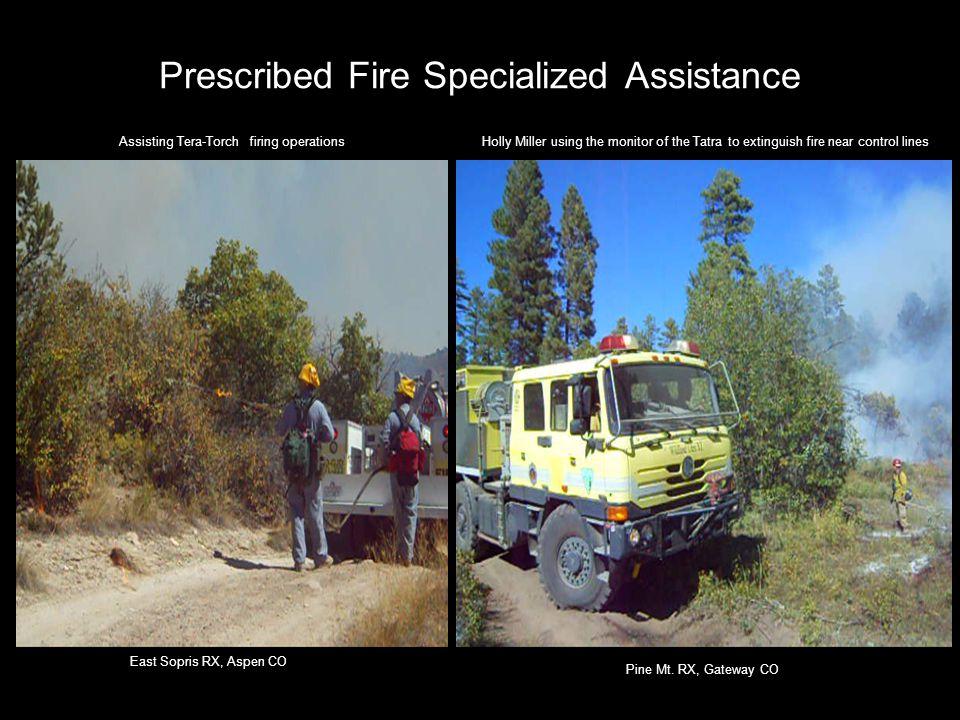 Prescribed Fire Specialized Assistance East Sopris RX, Aspen CO Pine Mt.