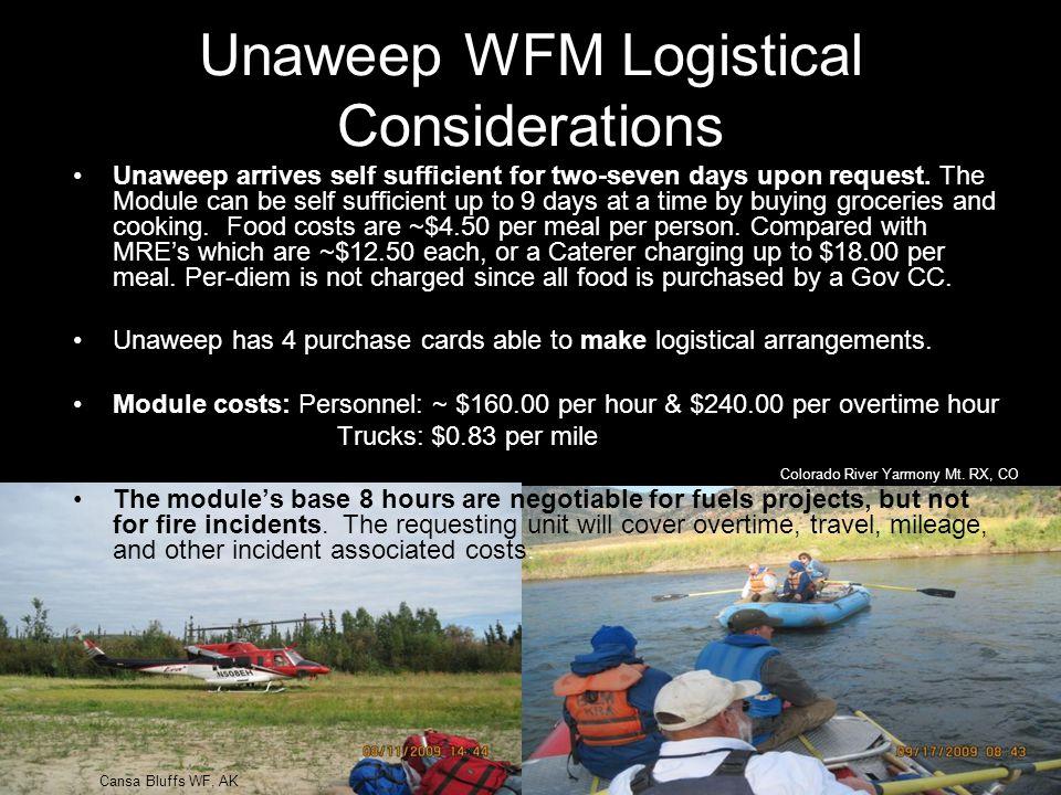 Unaweep WFM Logistical Considerations Colorado River Yarmony Mt.
