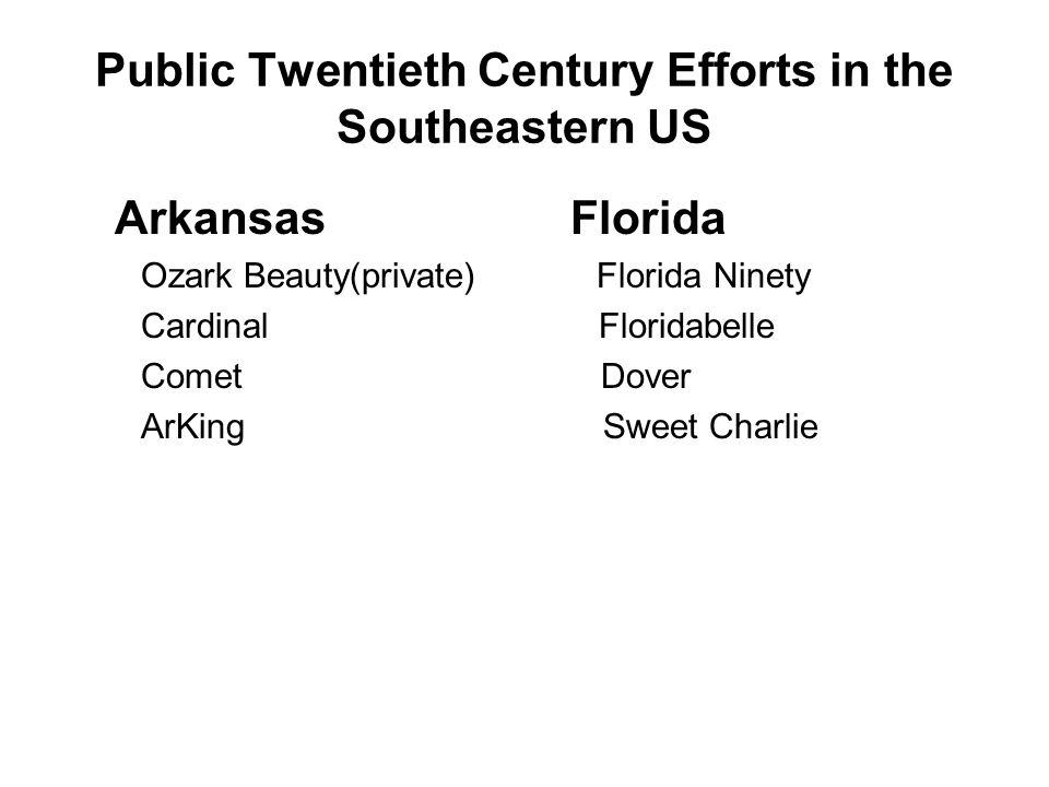 Public Twentieth Century Efforts in the Southeastern US Louisiana Kentucky Klondike Citation Klonmore Konvey Marion Bell Headliner Dabreak Tangi