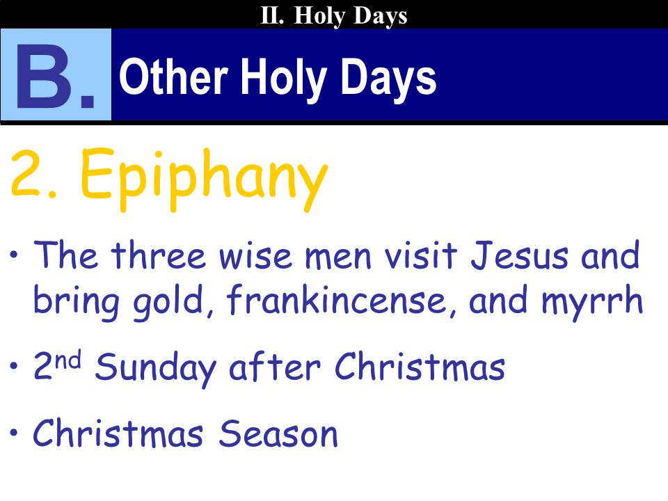 Other Holy Days 2.