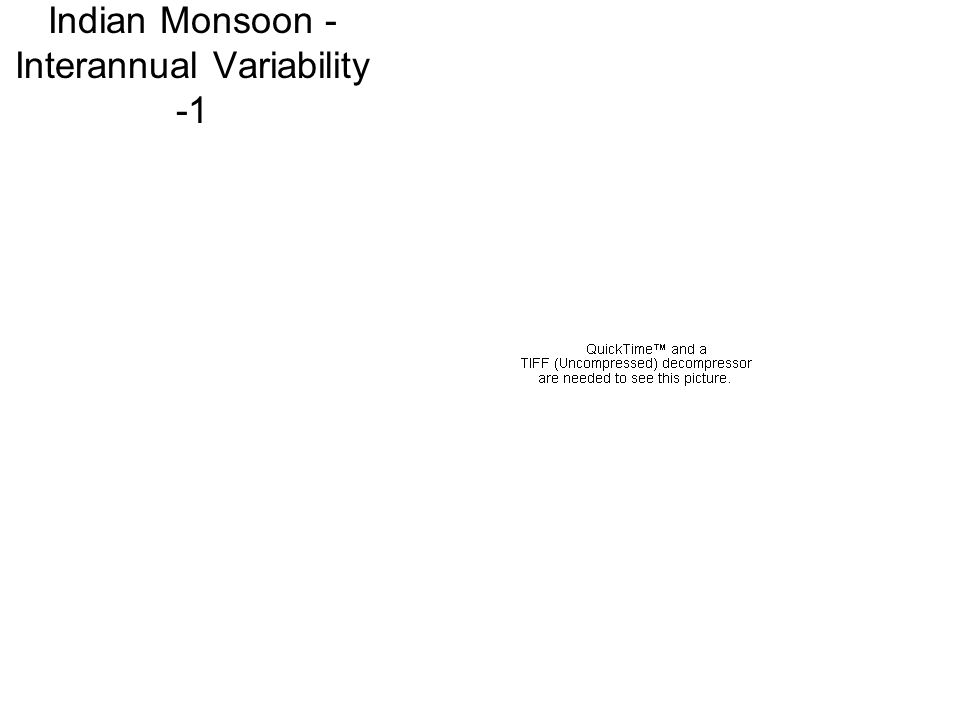 Indian Monsoon - Interannual Variability -1