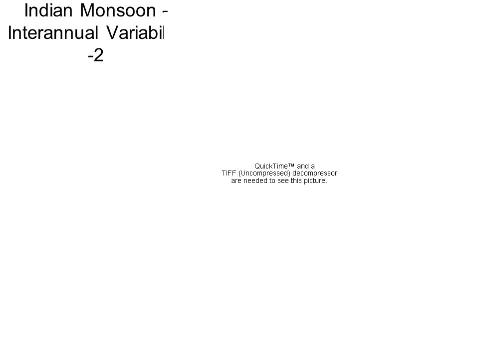 Indian Monsoon - Interannual Variability -2
