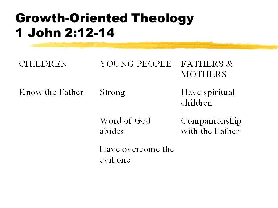Growth-Oriented Theology 1 John 2:12-14