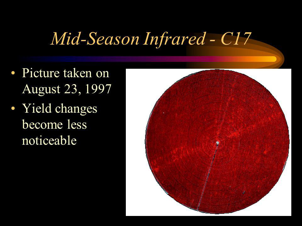 Mid-Season Infrared - C17 Picture taken on August 23, 1997 Yield changes become less noticeable