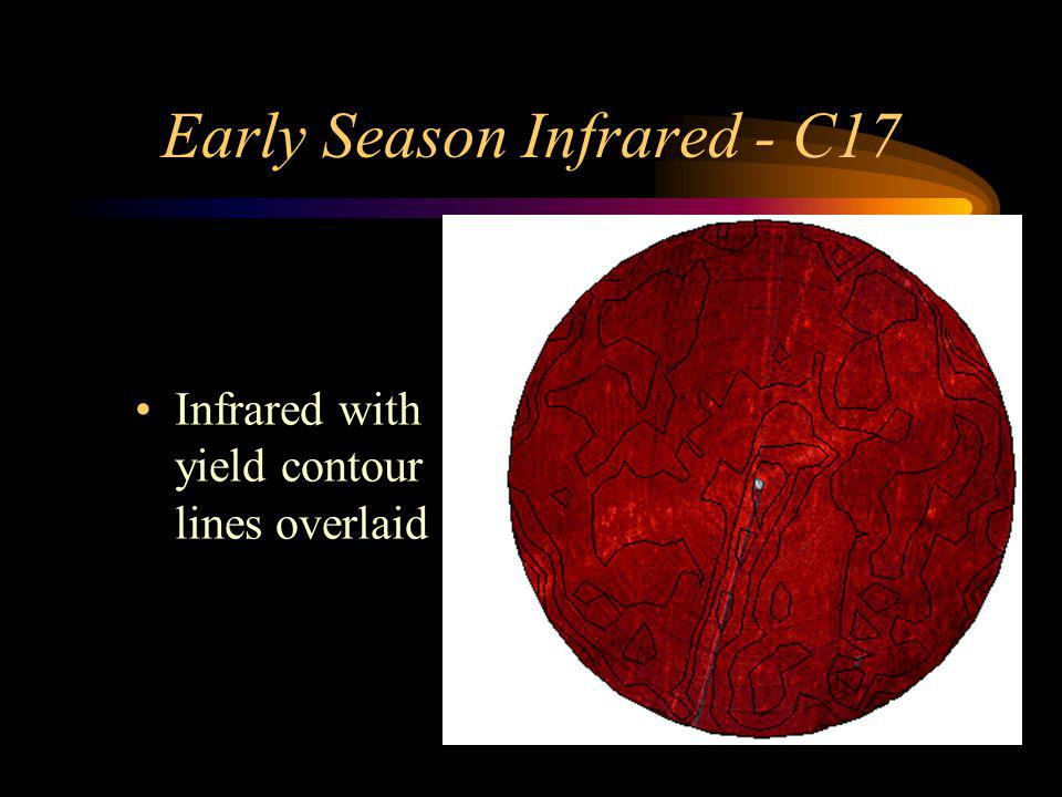 Early Season Infrared - C17 Infrared with yield contour lines overlaid