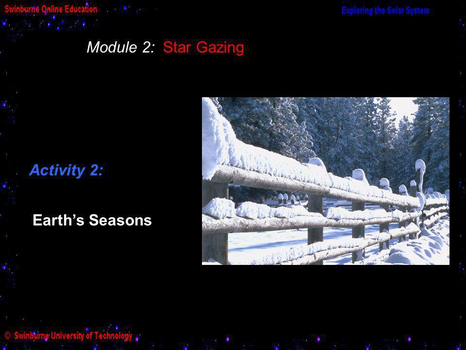 Module 2: Star Gazing Activity 2: Earths Seasons