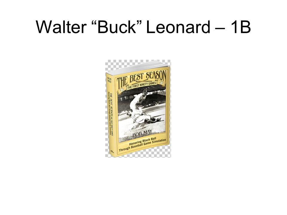 Walter Buck Leonard – 1B