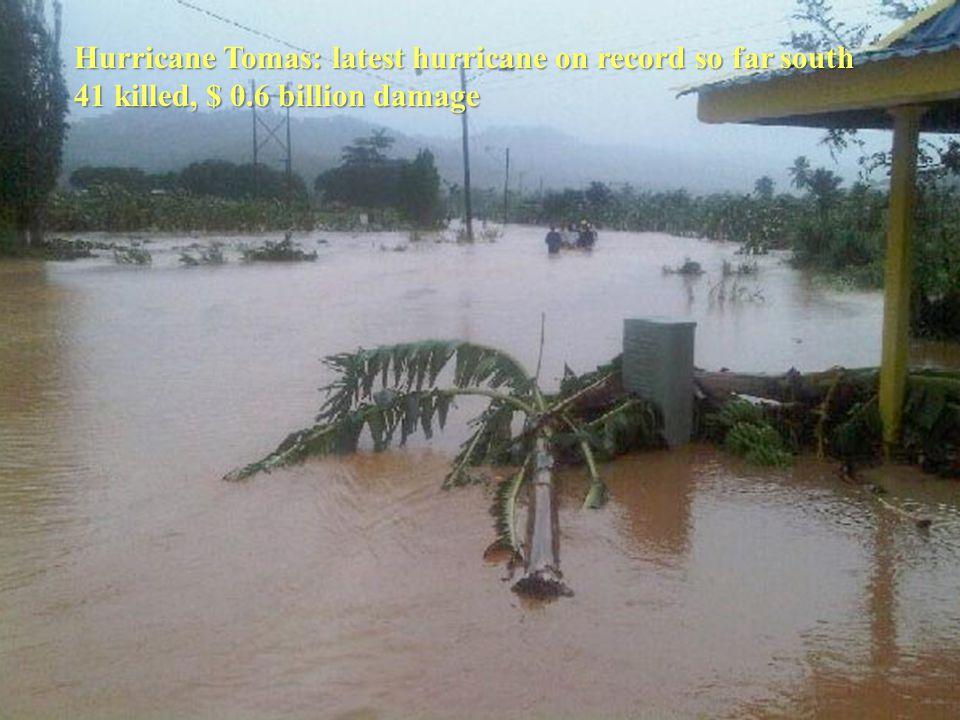 Hurricane Tomas: latest hurricane on record so far south 41 killed, $ 0.6 billion damage