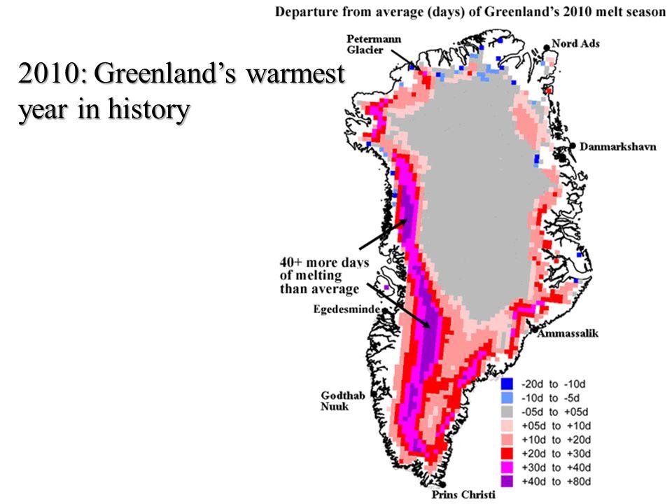 2010: Greenlands warmest year in history
