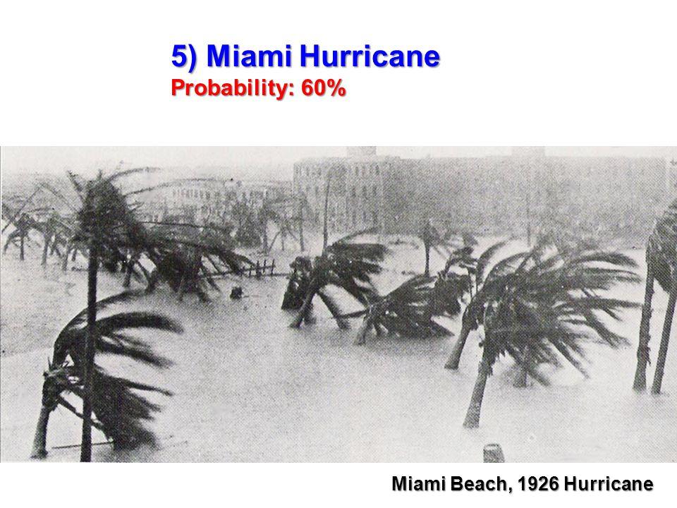 5) Miami Hurricane Probability: 60% Miami Beach, 1926 Hurricane