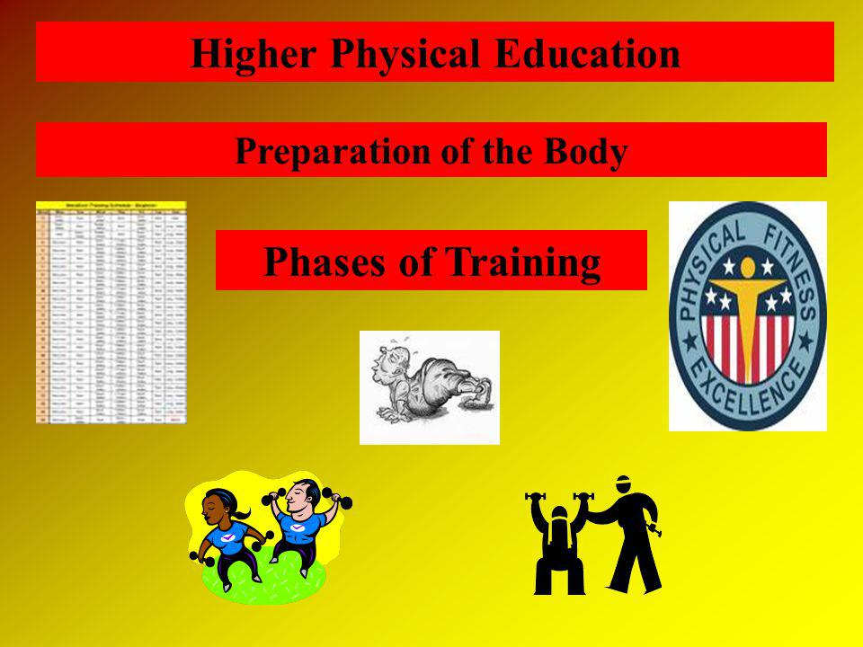 Higher Physical Education Preparation of the Body Phases of Training