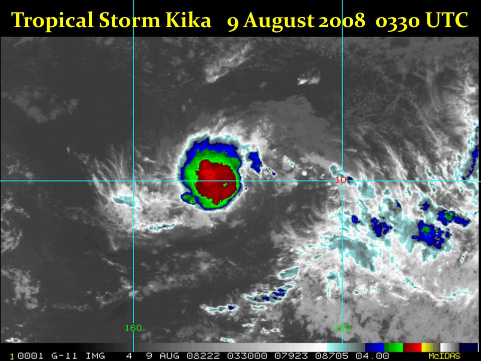 Tropical Storm Kika 9 August 2008 0330 UTC