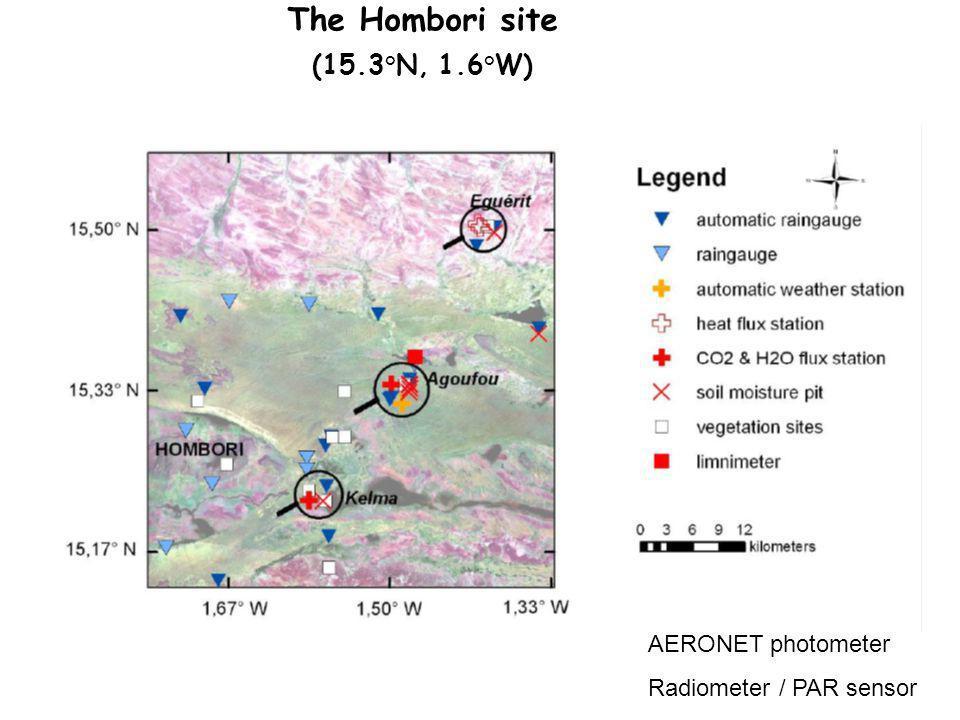 The Hombori site (15.3°N, 1.6°W) AERONET photometer Radiometer / PAR sensor