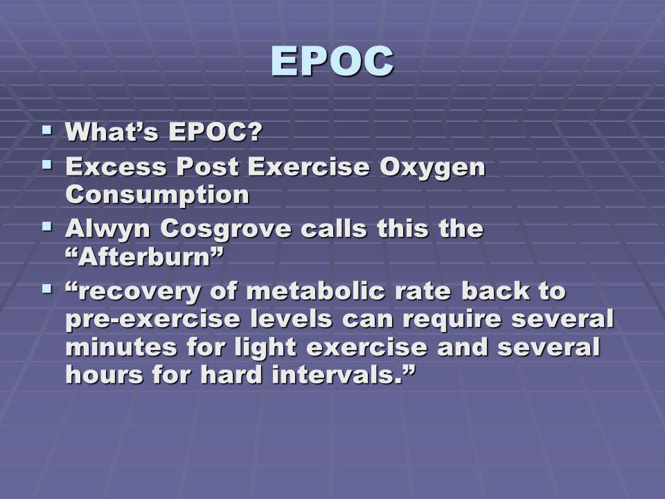 EPOC Whats EPOC.Whats EPOC.