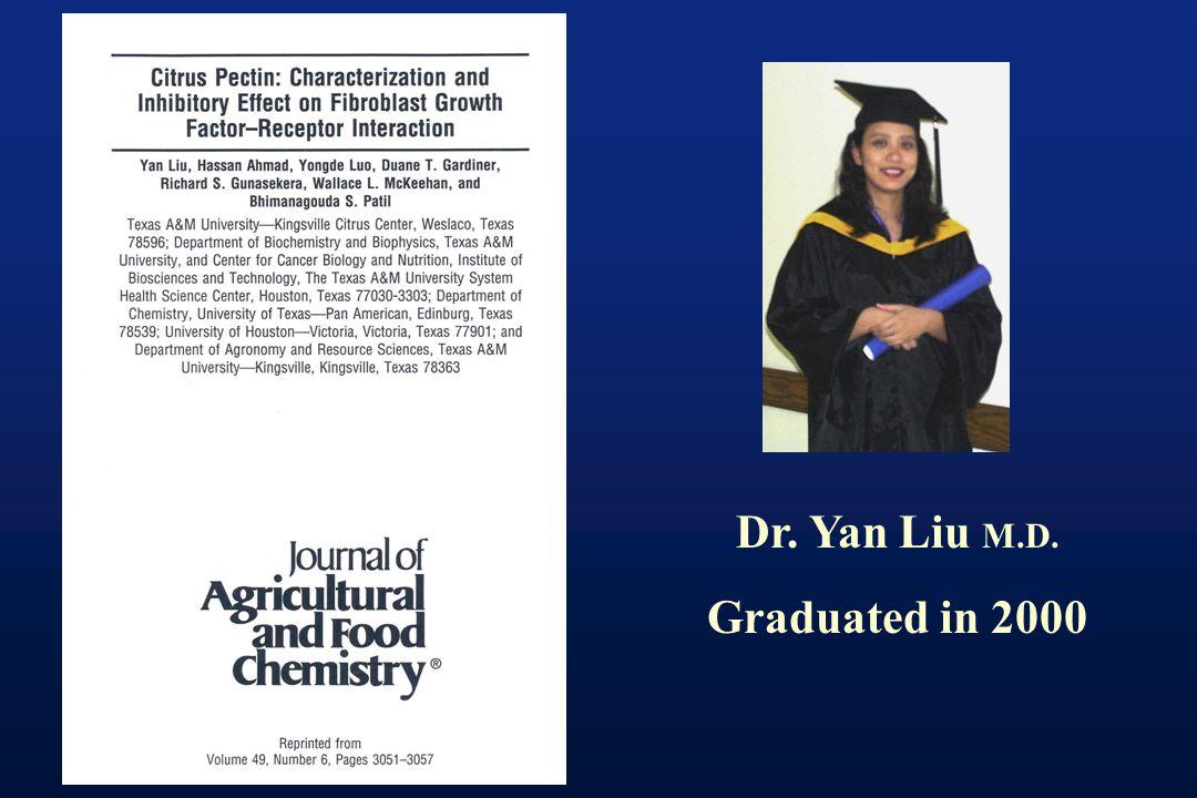 Dr. Yan Liu M.D. Graduated in 2000