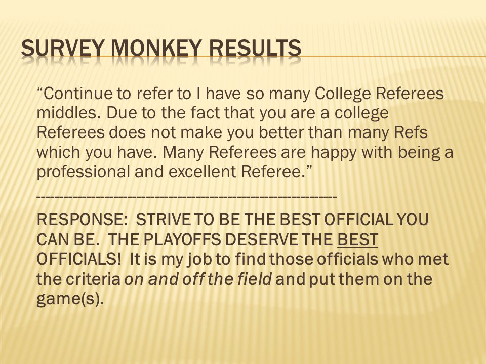 Continue to refer to I have so many College Referees middles.