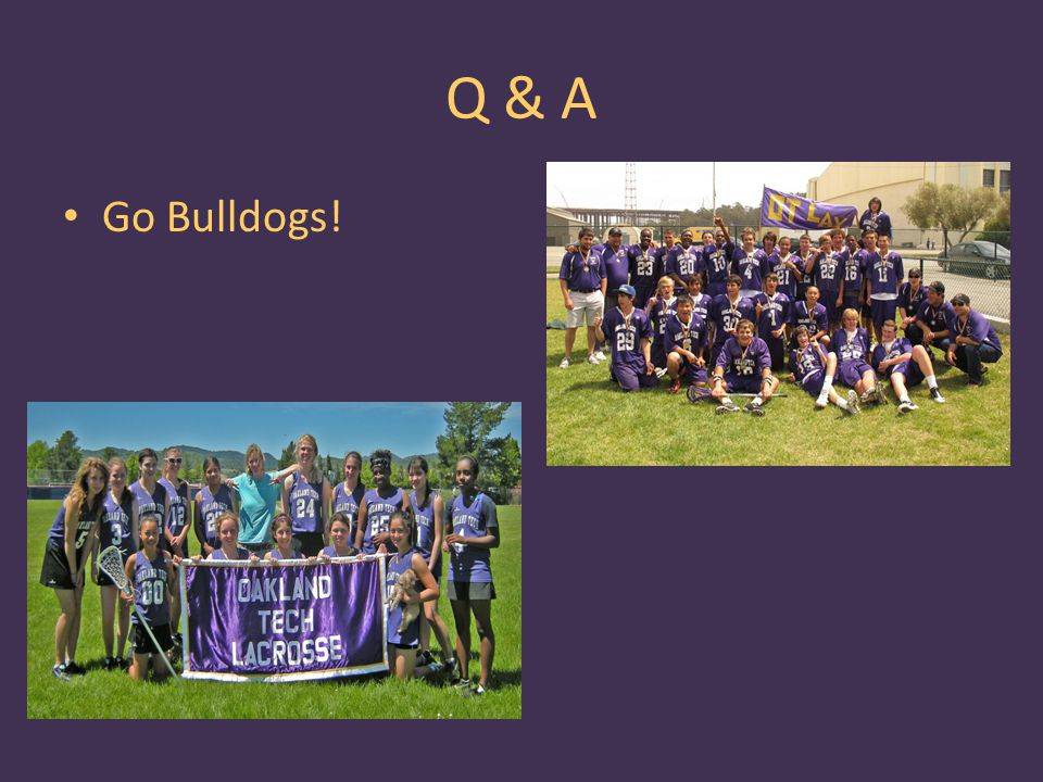Q & A Go Bulldogs! Add a girls team photo