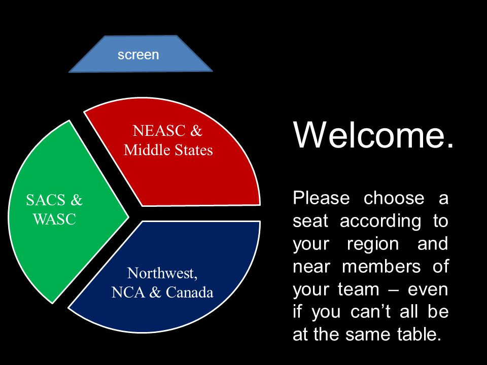 screen Please choose a seat according to your region and near members of your team – even if you cant all be at the same table.