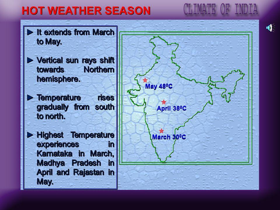 Moderate rainfall region: Annual rainfall between 50 100cm The upper Ganga plain Eastern Rajasthan Punjab Haryana and Soutern Kashmir Parts of the Dec