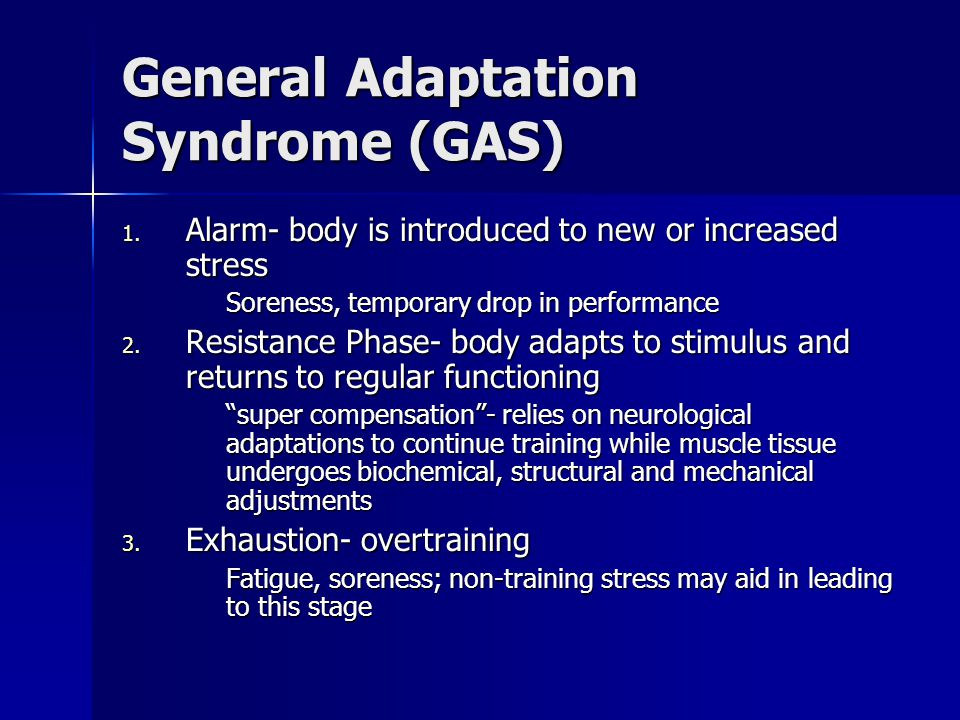 3 Phases In Off Season Hypertrophy/Endurance (1-6 weeks) Hypertrophy/Endurance (1-6 weeks) –Increase anaerobic capacity, increase lean muscle mass, develop muscular and metabolic endurance base –Recovery week of low intensity/low volume afterwards –50-75% of 1RM / 3-5 sets of 10-20 reps Basic Strength Basic Strength –Increase strength of muscles relative to sport, become more sport specific, heavier loads, less volume –78-90% of 1RM / 3-5 sets of 4-8 reps Strength/Power Strength/Power –Explosive Training at high loads and low volume –75-95% of 1RM / 3-5 sets of 2-5 reps
