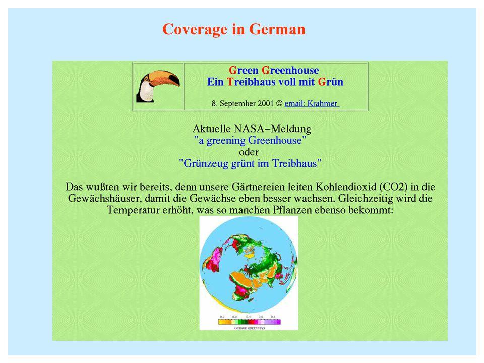 Coverage in German
