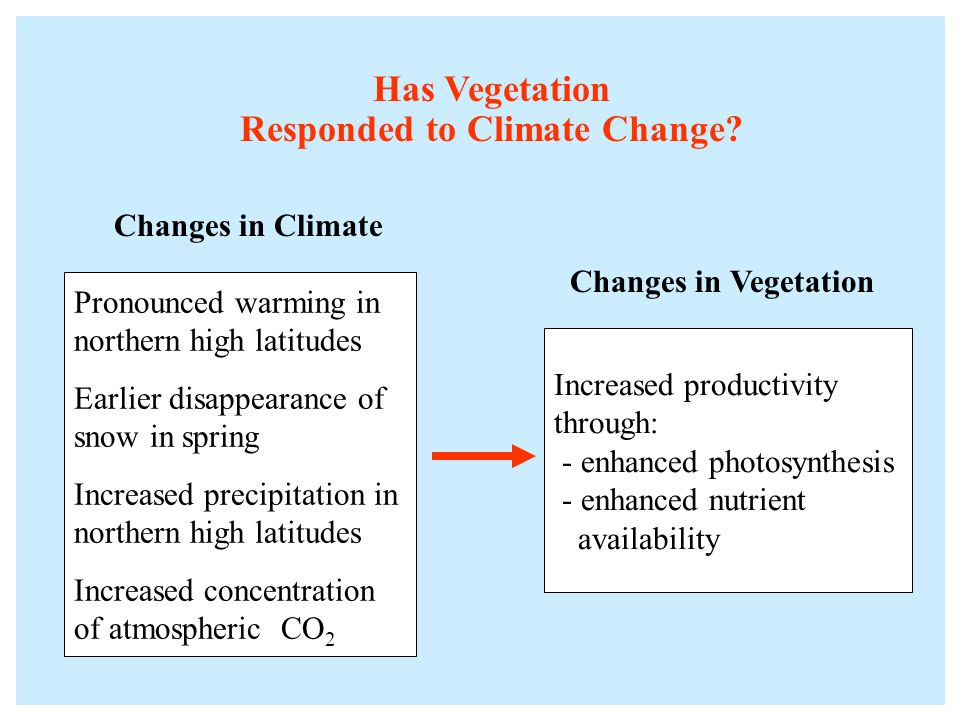 Has Vegetation Responded to Climate Change.