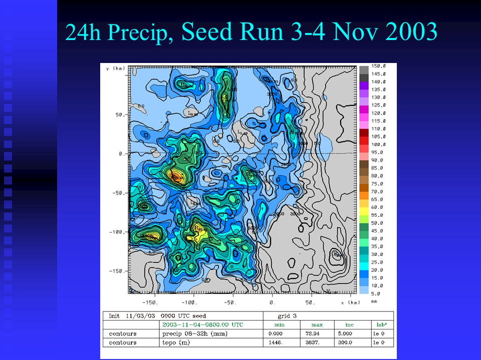 24h Precip, Seed Run 3-4 Nov 2003