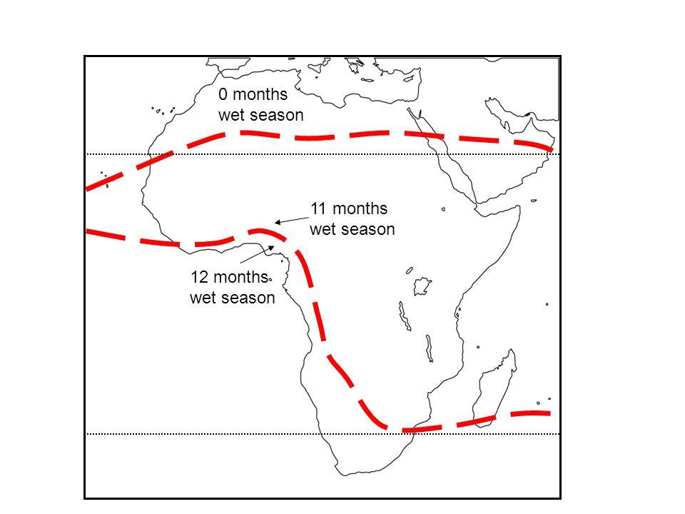12 months wet season 11 months wet season 0 months wet season