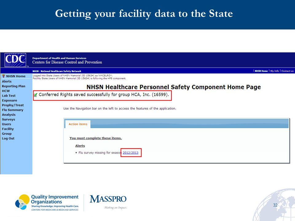 32 Getting your facility data to the State