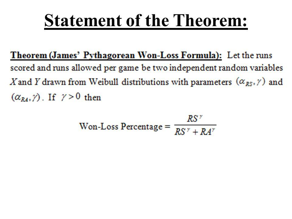Statement of the Theorem: